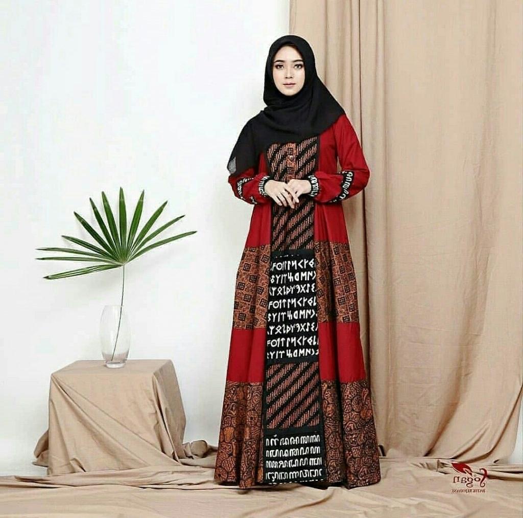 Model Model Gamis Batik Untuk Pesta Pernikahan X8d1 6 Model Gamis Batik Modern Dan Elegan Suara Muslim