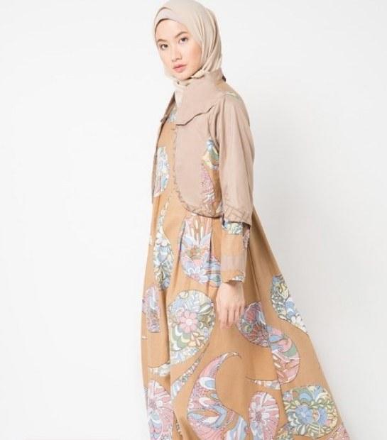 Model Model Gamis Batik Untuk Pesta Pernikahan Y7du √ 20 Inspirasi Model Gamis Batik Terbaru 2019