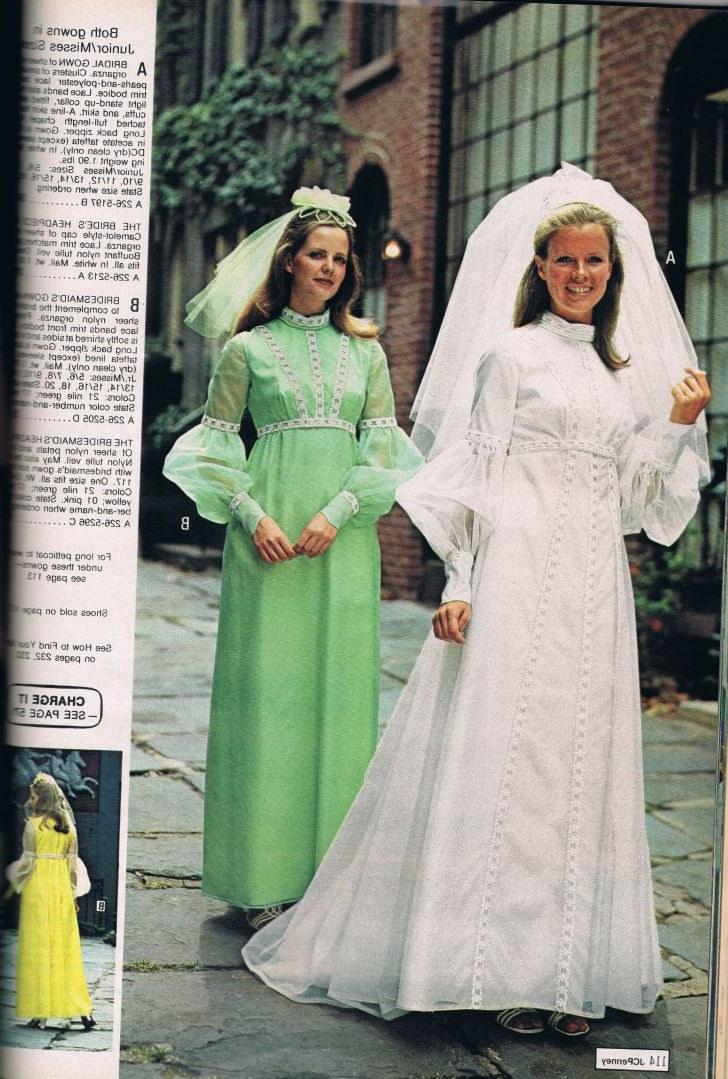 Model Vintage Bridesmaid Dress Hijab Whdr Penneys Catalog 1973 Vintage Bridal and Bridesmaid Dresses