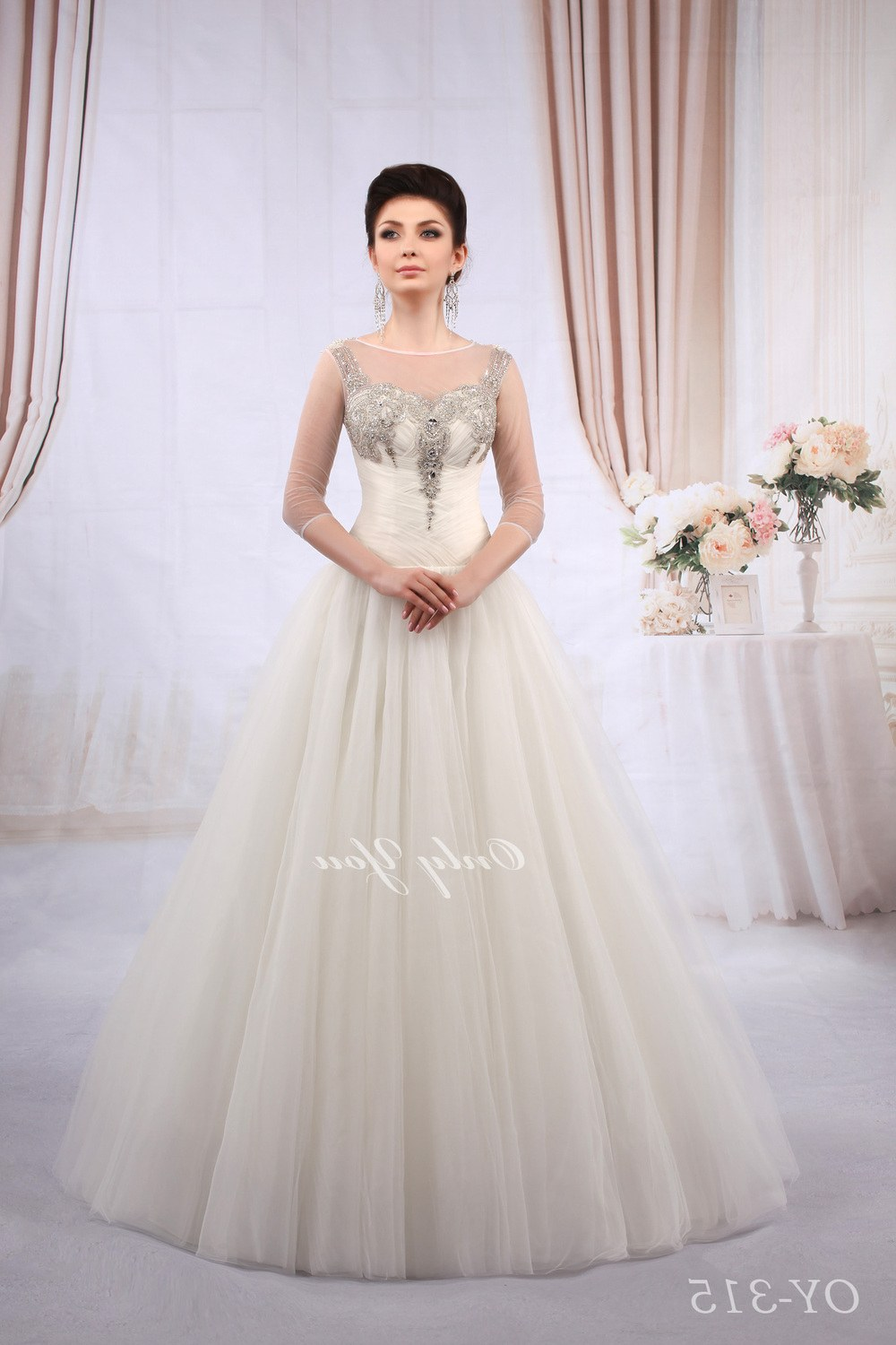 Model Vintage Bridesmaid Dress Hijab Zwdg Ball Gown Wedding Dress with Bling Luxury Plus Size Vintage