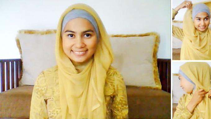 Tutorial Hijab Segi Empat Pita Kupu Kupu Ragam Muslim