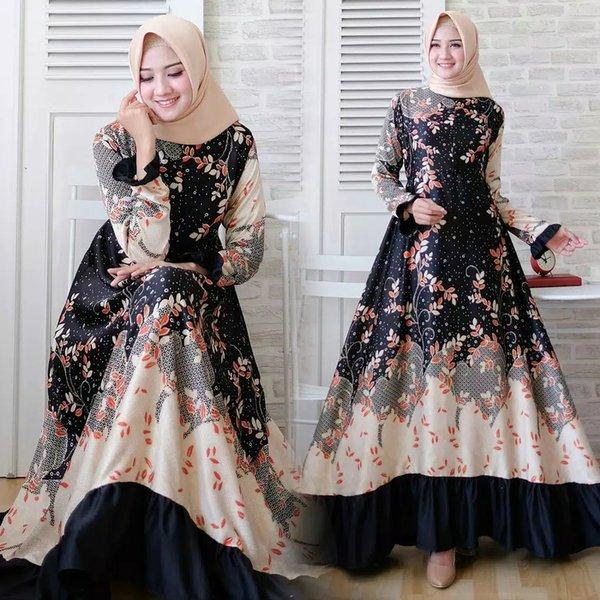 Model Baju Gamis Bunga2 Terbaru Ragam Muslim