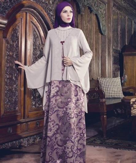 Model Gamis Batik Kombinasi Lurik Ragam Muslim
