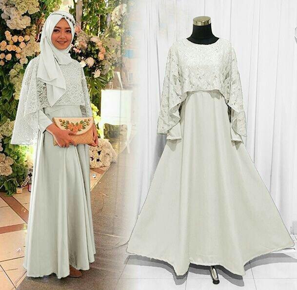 Model Gamis Rompi Brokat Ragam Muslim