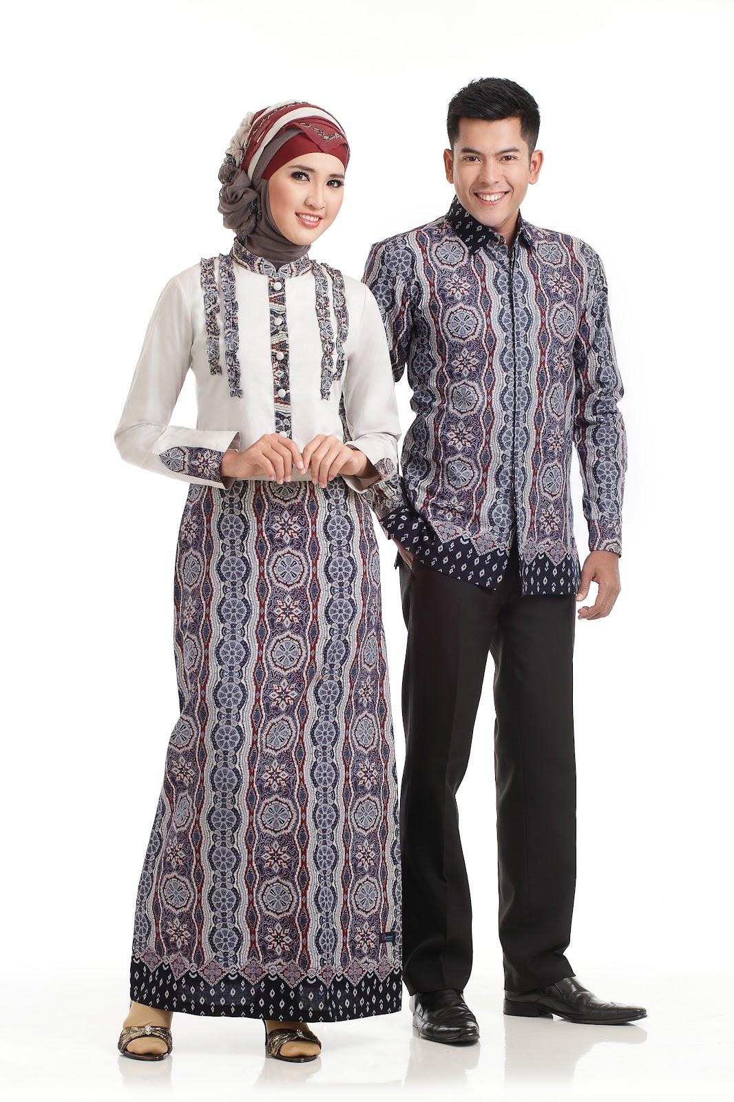 Model Baju Gamis Batik Kombinasi Kain Polos Remaja Ragam