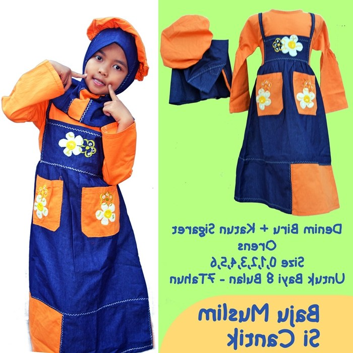 Bentuk Baju Lebaran Anak Perempuan Umur 13 Tahun Y7du Jual Baju Muslim Anak Wanita Umur 4 8 Tahun