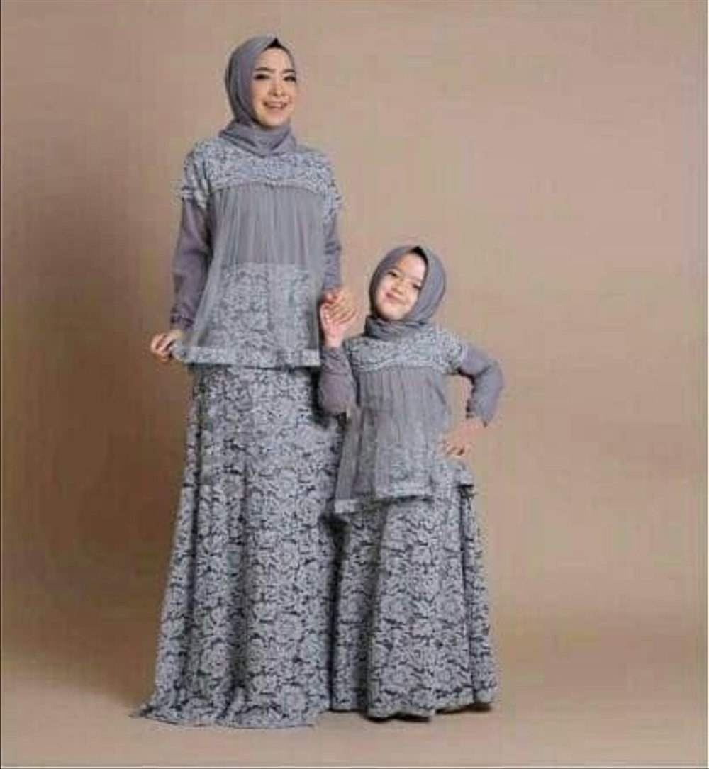 Bentuk Baju Lebaran Anak2 Irdz Jual Baju Lebaran Couple Ibu Anak M Fit L Sewina Grey