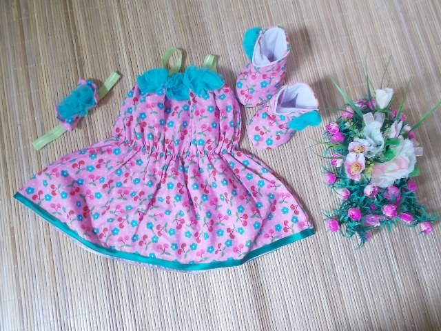 Bentuk Baju Lebaran Bayi 6 Bulan 3ldq Set Baju Pesta Bayi Cherry Pink Jual Baju Pesta Bayi