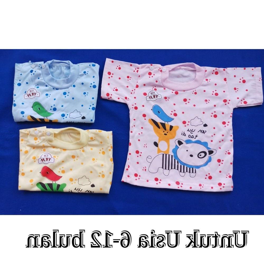 Bentuk Baju Lebaran Bayi 6 Bulan Dwdk Jual Baju Bayi Lengan Pendek Print 6 12 Bulan Di Lapak