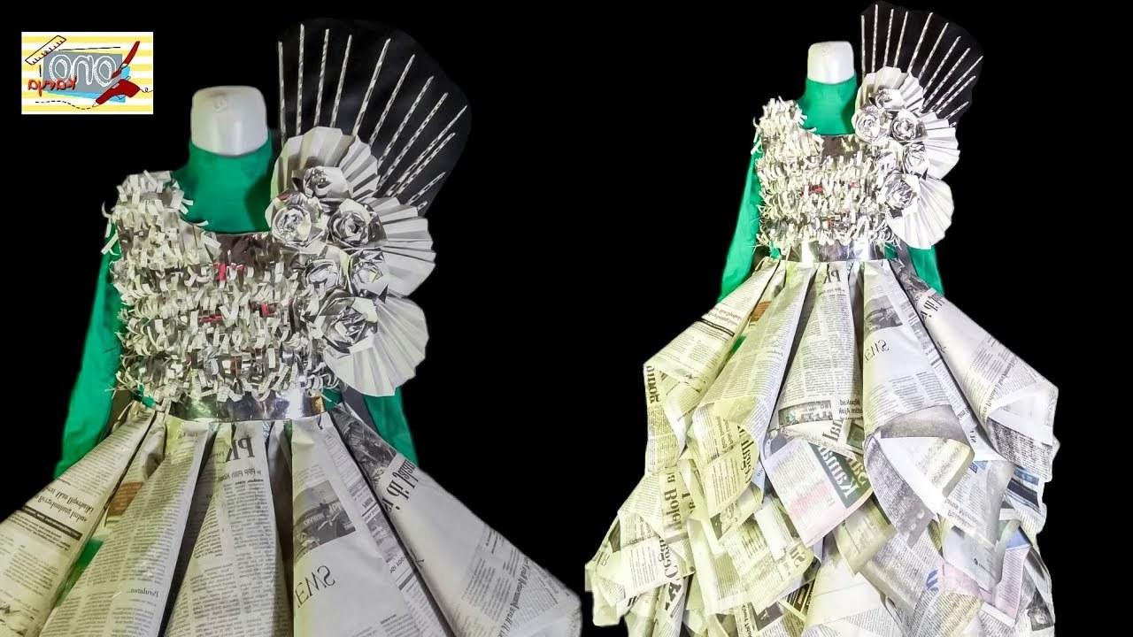 Bentuk Baju Lebaran Dari Karung 8ydm Cara Membuat Baju Costum Dari Koran Bekas