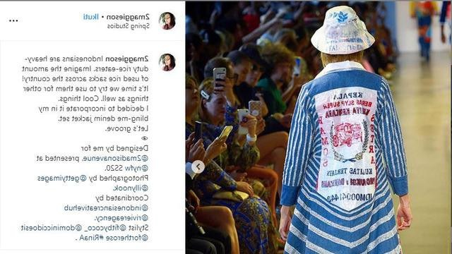 Bentuk Baju Lebaran Dari Karung Beras Dwdk Keren Hadir Di New York Fashion Week Desainer Indonesia