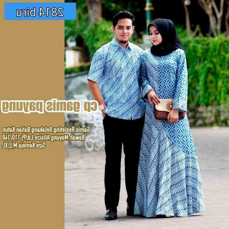 Bentuk Baju Lebaran Jumbo Q0d4 Baju Couple Batik Lebaran Jumbo Baju Muslim Modern Indonesia