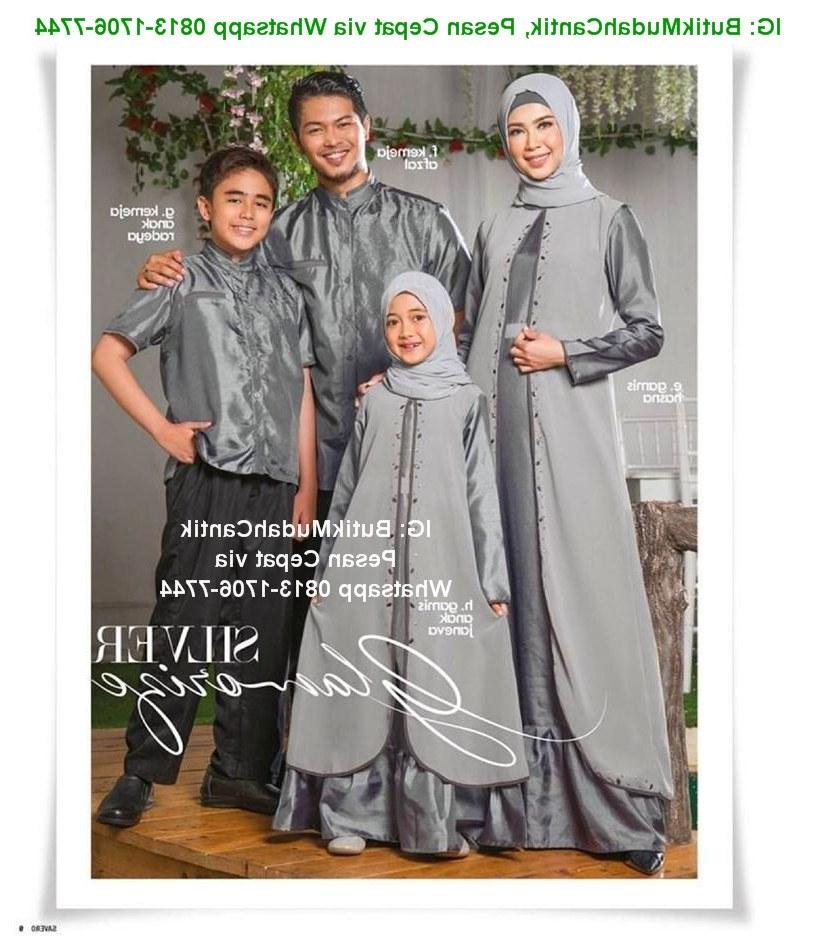 Bentuk Baju Lebaran Keluarga 2018 Q0d4 butik Baju Muslim Terbaru 2018 Baju Lebaran Keluarga 2018