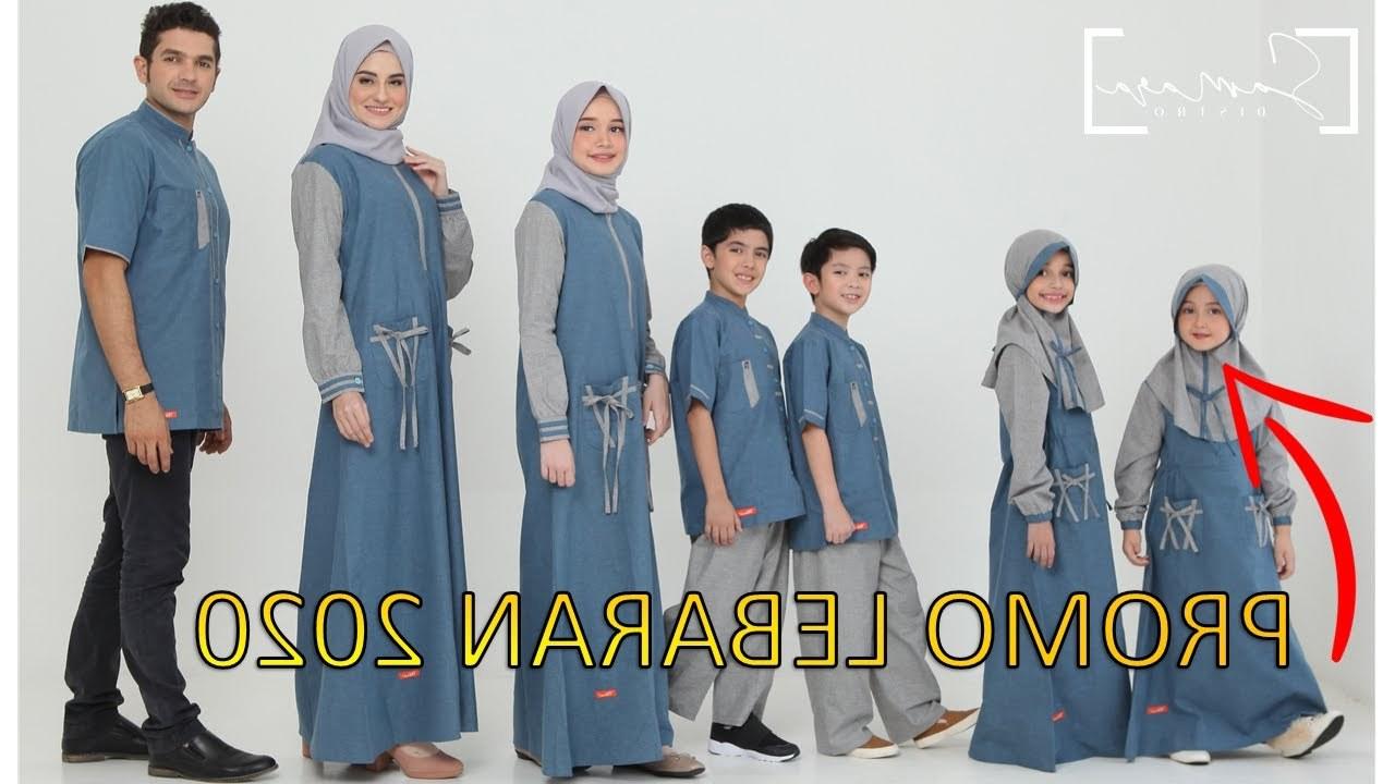 Bentuk Baju Lebaran Keluarga 2020 87dx Trend Model Busana Baju Gamis Terbaru Lebaran Sarimbit