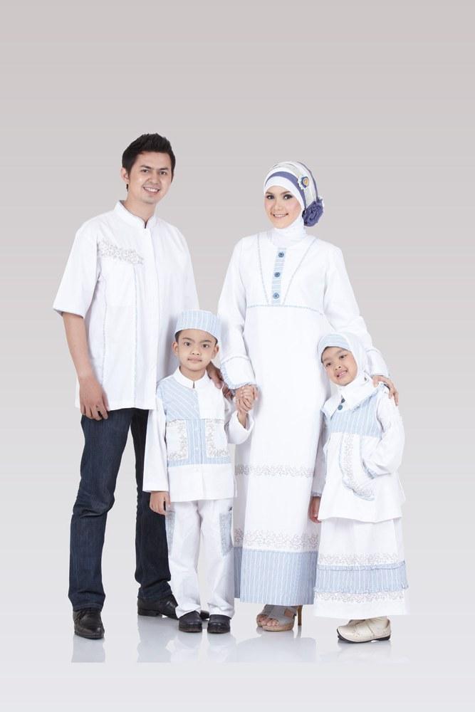 Bentuk Baju Lebaran Keluarga Warna Putih S1du 25 Model Baju Muslim Keluarga Warna Putih Terbaru 2018