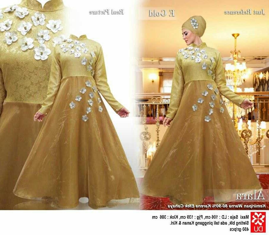 Bentuk Baju Lebaran Model Sekarang 0gdr Gamis Pesta Model Sekarang Alara Gold Model Baju Gamis
