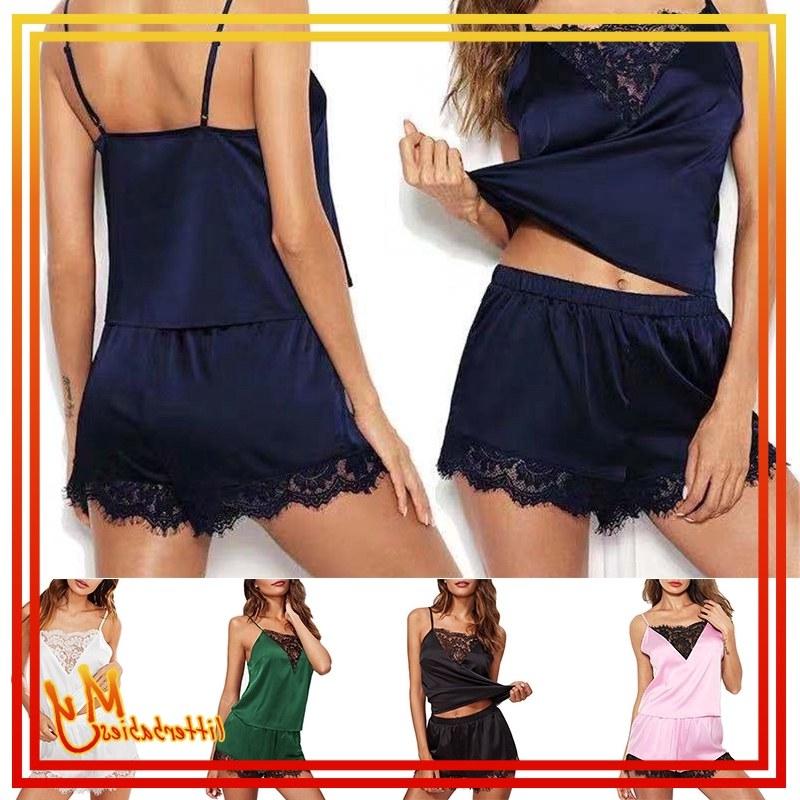 Bentuk Baju Lebaran Shopee 0gdr Lebaran Piyama Women Summer Nightdress Silk Satin Lace