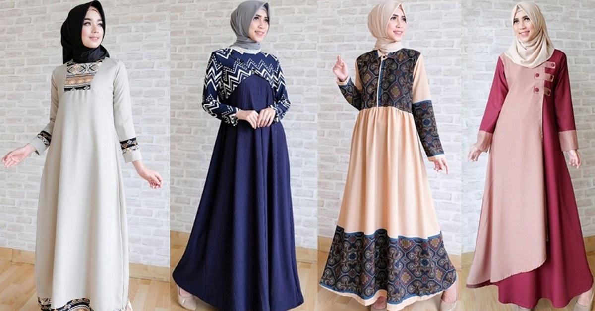 Bentuk Baju Lebaran Thn 2018 3ldq Model Baju Muslim Abaya Terbaru 2018 Untuk Acara Keluarga