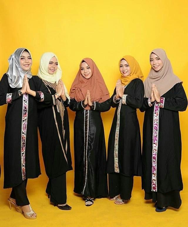 Bentuk Desain Baju Lebaran 2018 S1du 20 Trend Model Baju Muslim Lebaran 2018 Casual Simple Dan
