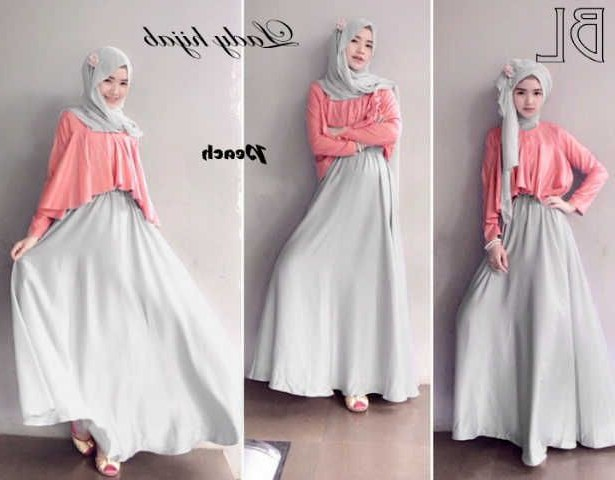 Bentuk Fashion Muslim Korea Zwd9 Long Dress Muslim Modern