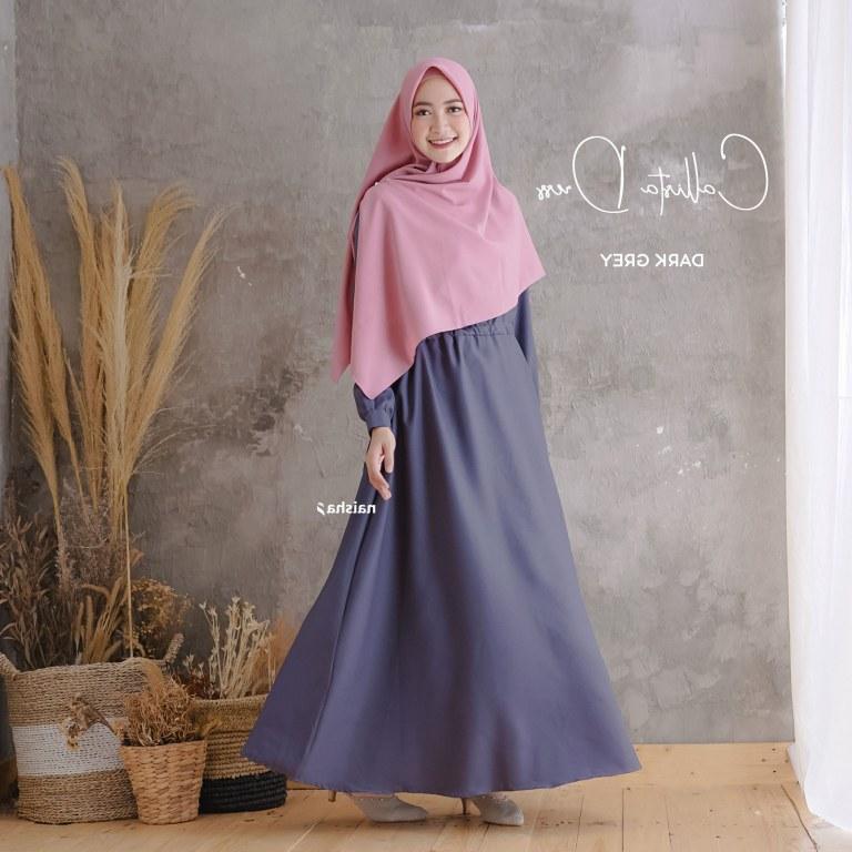 Bentuk Fashion Muslimah Terbaru 2020 9ddf 50 Baju Gamis Syari Terbaru Untuk Muslimah Masa Kini
