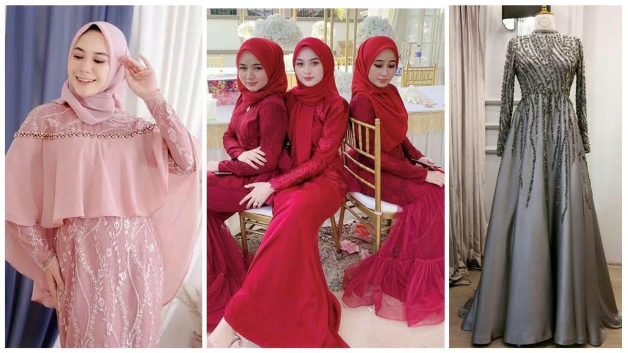 Bentuk Fashion Muslimah Terbaru 2020 Ffdn 22 Model Gamis Pesta Muslimah Modern Terbaru 2019 2020