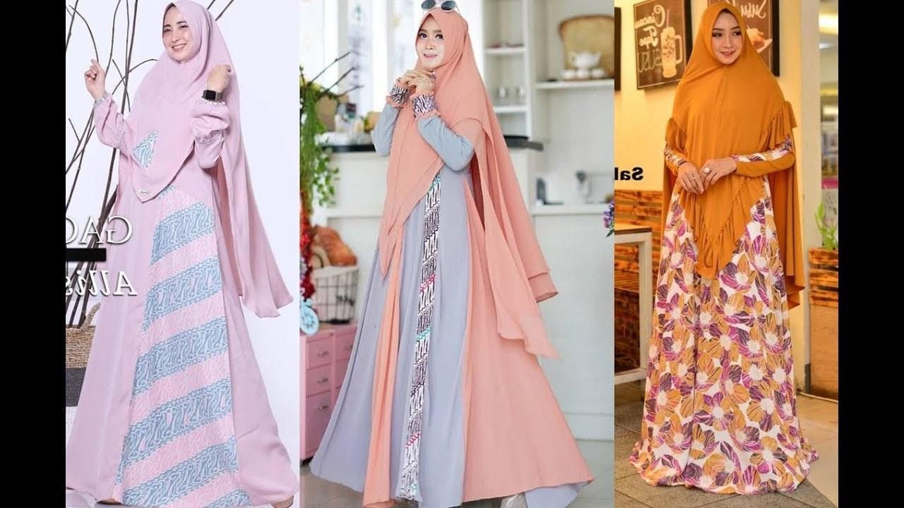 Bentuk Fashion Muslimah Terbaru 2020 Zwd9 12 Model Baju Gamis Syari Elegan Terbaru 2019 2020