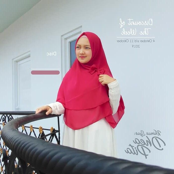 Bentuk Fashion Muslimah Terbaru 2020 Zwd9 Hijab Khimar Dhea Pita Model Terbaru 2020 Trend Fashion