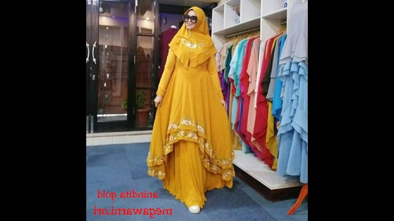 Bentuk Koleksi Baju Lebaran 2019 87dx Model Baju Gamis Terbaru 2018 2019 Syari Elegan Cantik
