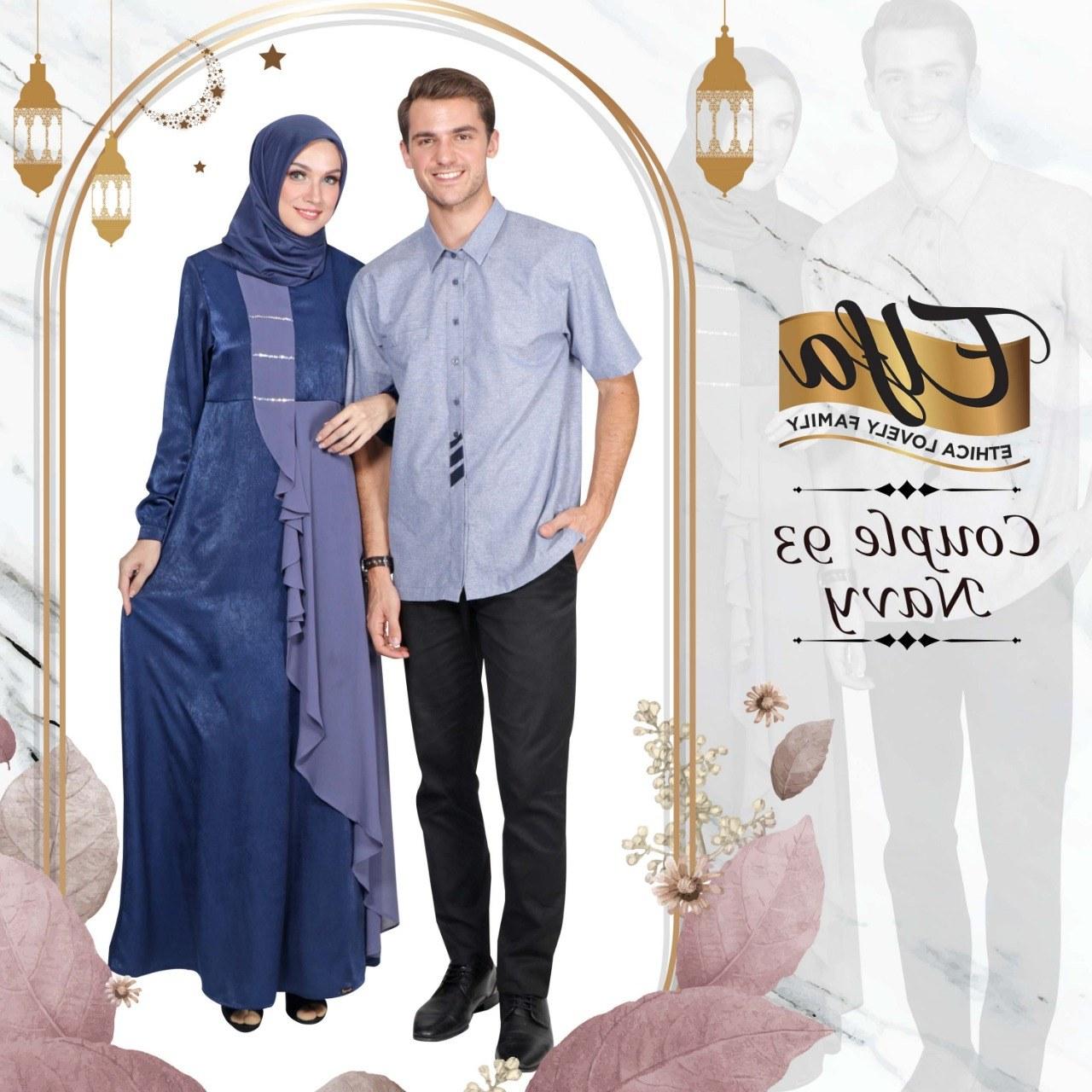 Bentuk Koleksi Baju Lebaran 2019 Rldj Koleksi Couple Ethica Terbaru Elfa Couple 93
