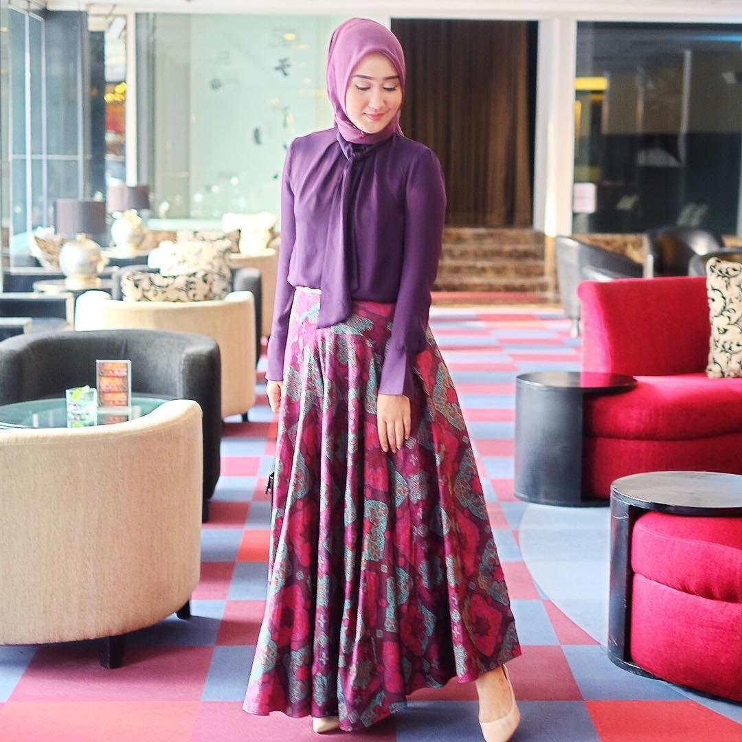 Bentuk Model Baju Lebaran 2018 atasan 3ldq 18 Model Baju Muslim Terbaru 2018 Desain Simple Casual