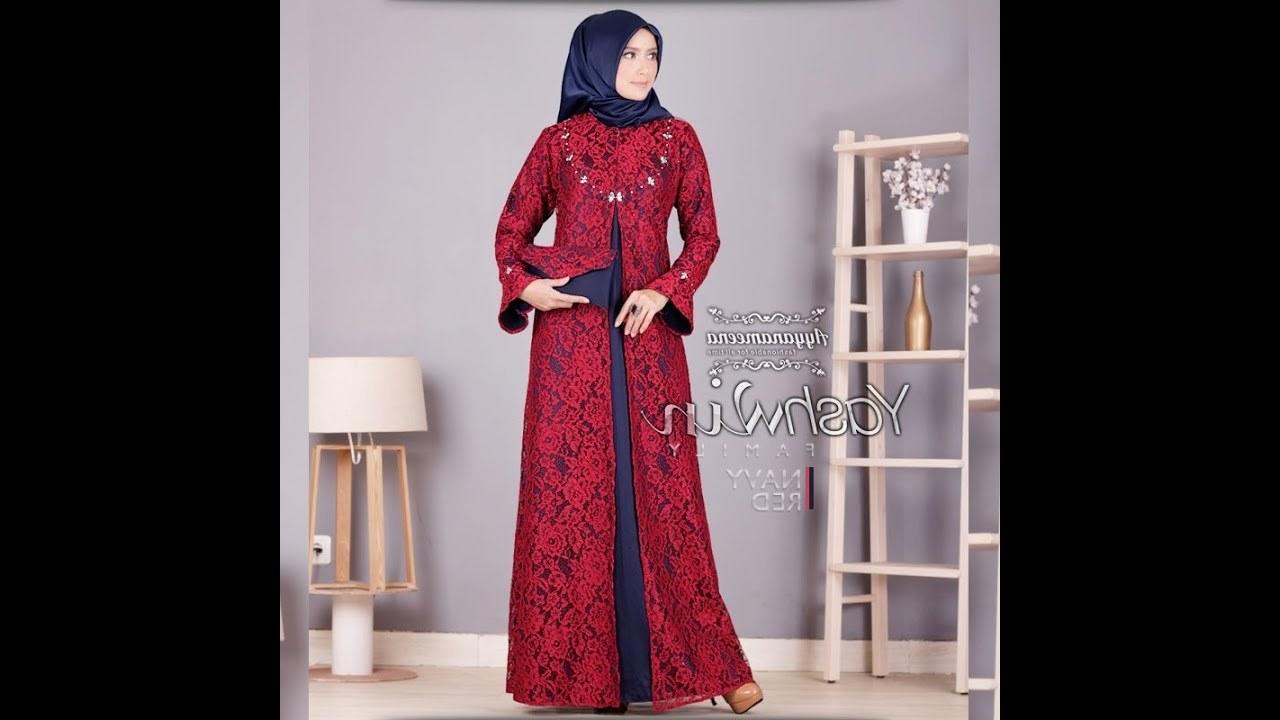 Bentuk Model Baju Lebaran Brokat 2018 U3dh Model Baju Gamis Brokat Terbaru 2018 Mewah Cantik Elegan