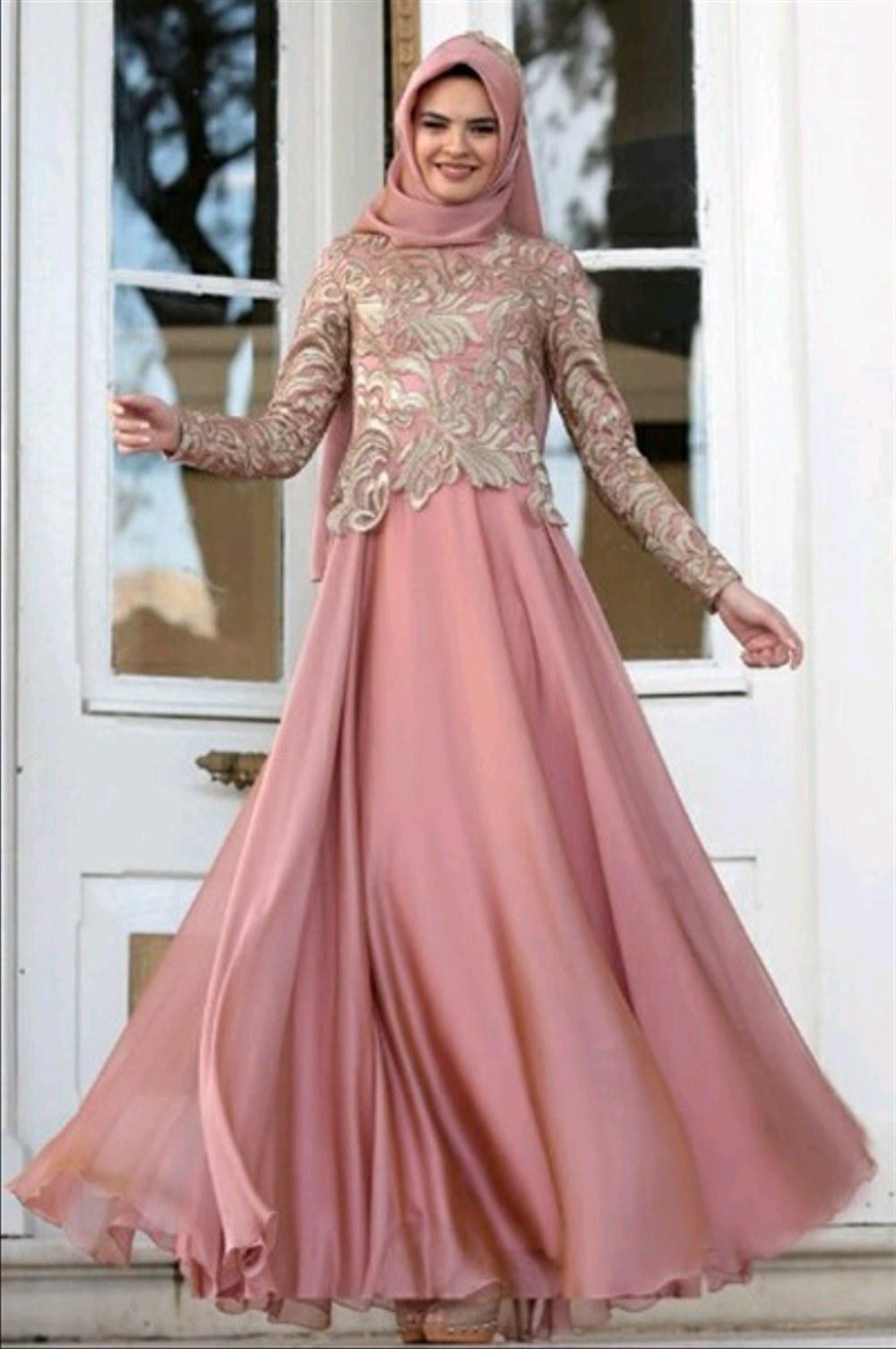Bentuk Model Baju Lebaran Brokat T8dj Jual Abaya Gamis Maxi Dress Gaun Pesta Muslim Brokat Satin