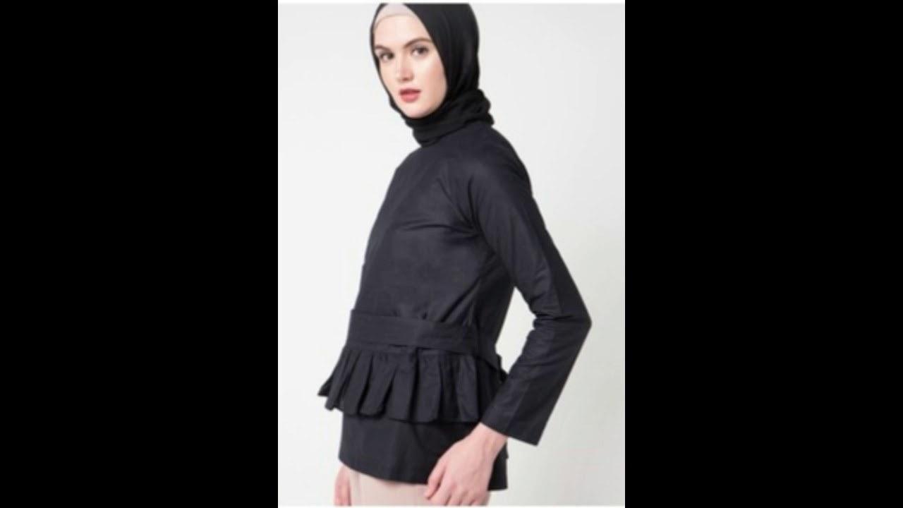 Bentuk Model Baju Lebaran Masa Kini 87dx Trend Desain Model Baju atasan Blouse Muslimah Masa Kini