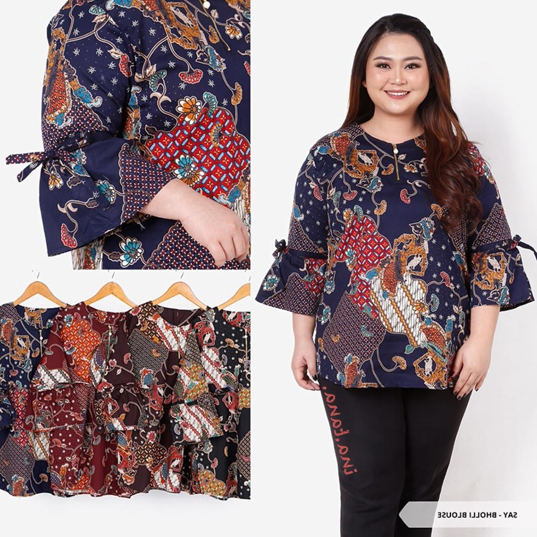 Bentuk Model Baju Lebaran Untuk orang Gemuk 8ydm 52 Model Baju Batik Wanita Gemuk Kekinian Populer 2018
