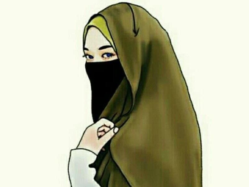 Bentuk Muslimah Bercadar Hitam D0dg 30 Gambar Kartun Muslimah Bercadar Syari Cantik Lucu