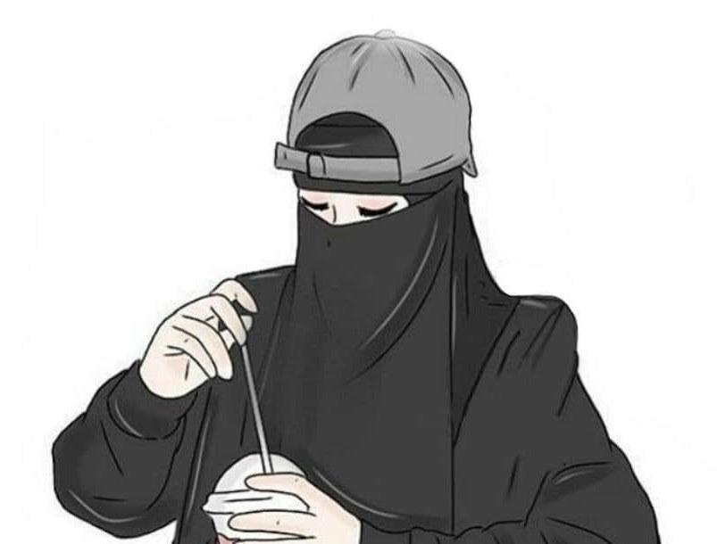 Bentuk Muslimah Bercadar Hitam Y7du 30 Gambar Kartun Muslimah Bercadar Syari Cantik Lucu