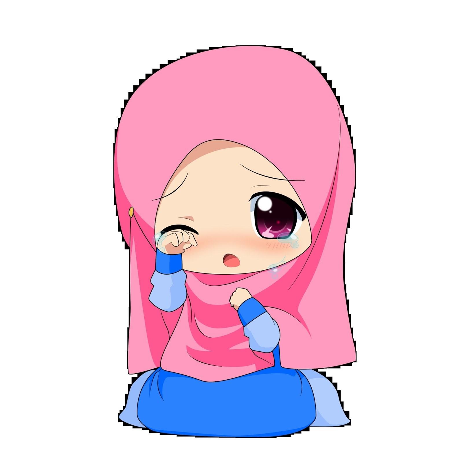 Bentuk Muslimah Kartun Menangis Bqdd Kartun Muslimah Chibi