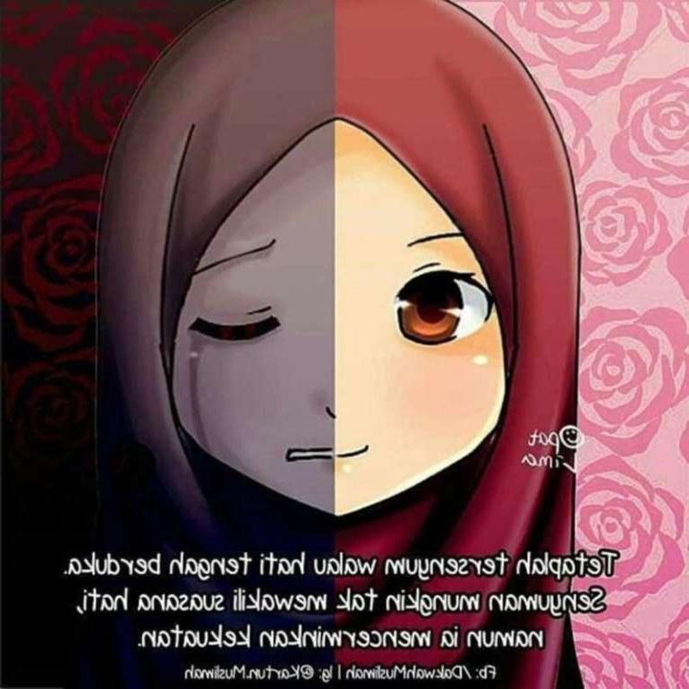 Bentuk Muslimah Kartun Menangis Drdp 75 Gambar Kartun Muslimah Cantik Dan Imut Bercadar