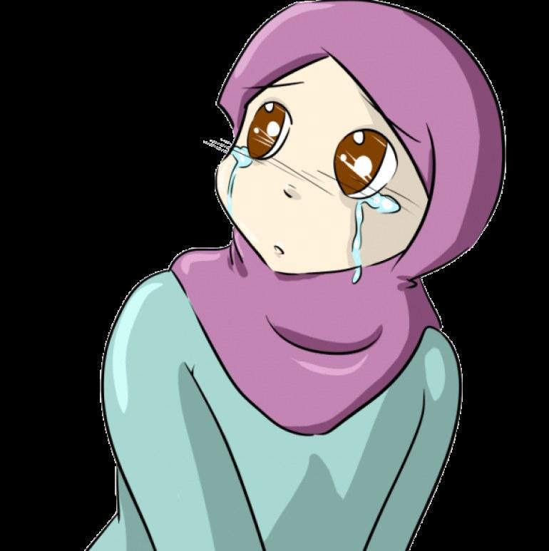Bentuk Muslimah Kartun Menangis Tqd3 75 Gambar Kartun Muslimah Cantik Dan Imut Bercadar