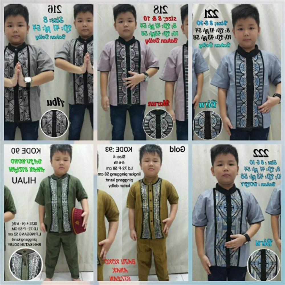 Bentuk Setelan Baju Lebaran U3dh Jual Setelan Baju Anak 4 5 6 Tahun Koko Celana Panjang Set