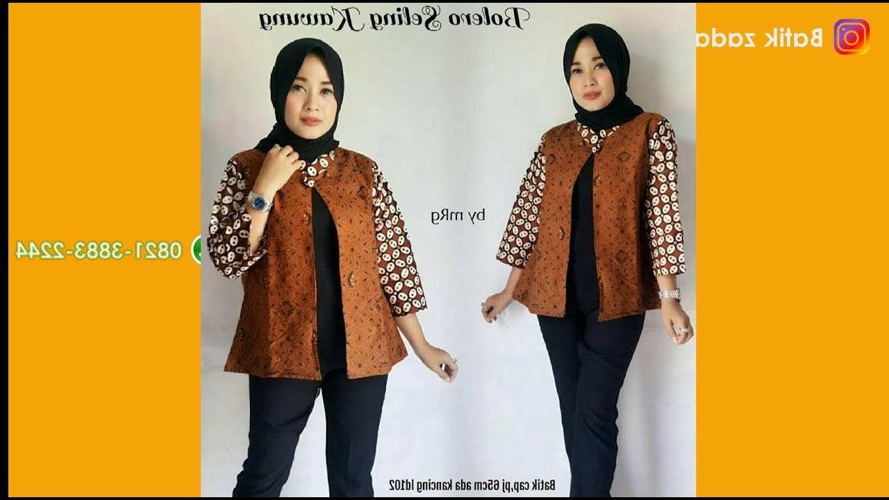 Bentuk Trend Baju Lebaran Wanita 2018 4pde Model Baju Batik Wanita Terbaru Trend Batik atasan Populer