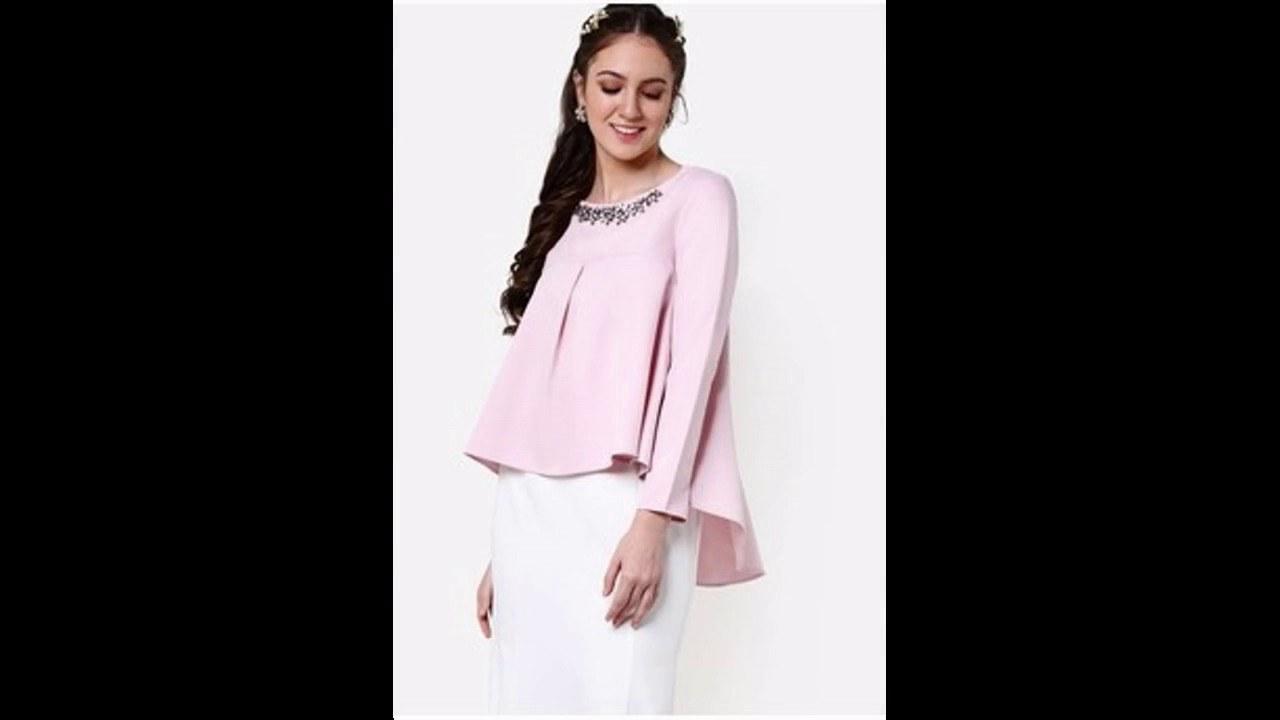 Design Baju Lebaran 2017 Thdr Baju Muslim atasan Blouse Untuk Lebaran 2017