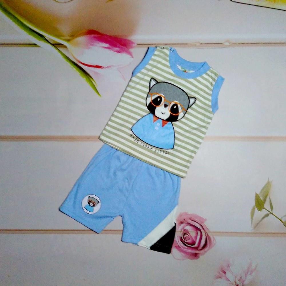 Design Baju Lebaran 2018 Anak Laki Laki J7do Jual Setelan Baju Kaos Anak Laki Laki Cowok Beruang
