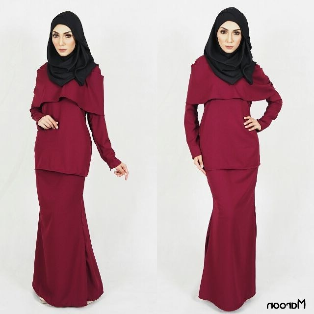Design Baju Lebaran 2019 Shopee D0dg S 10xl Baju Kurung Moden Baju Raya Muslimah Plussize