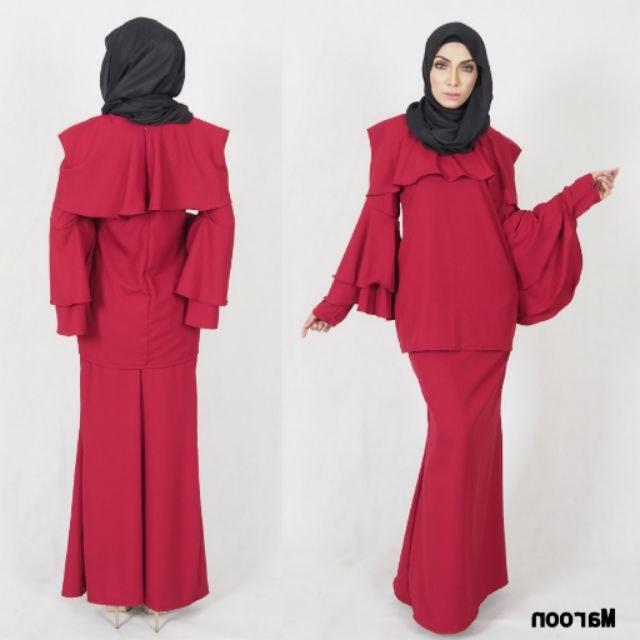Design Baju Lebaran 2019 Shopee Txdf S 5xl Modern Baju Kurung Muslimah Fashion Raya 2019