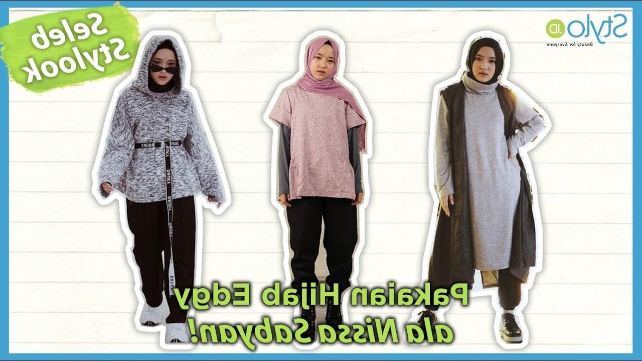 Design Baju Lebaran Ala Nissa Sabyan Dddy Gaya Hijab Kekinian Ala Nissa Sabyan