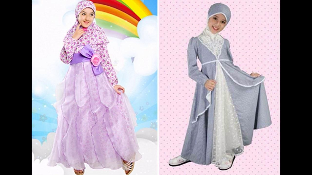 Design Baju Lebaran Anak Perempuan Mndw Baju Muslim Lebaran Anak Perempuan