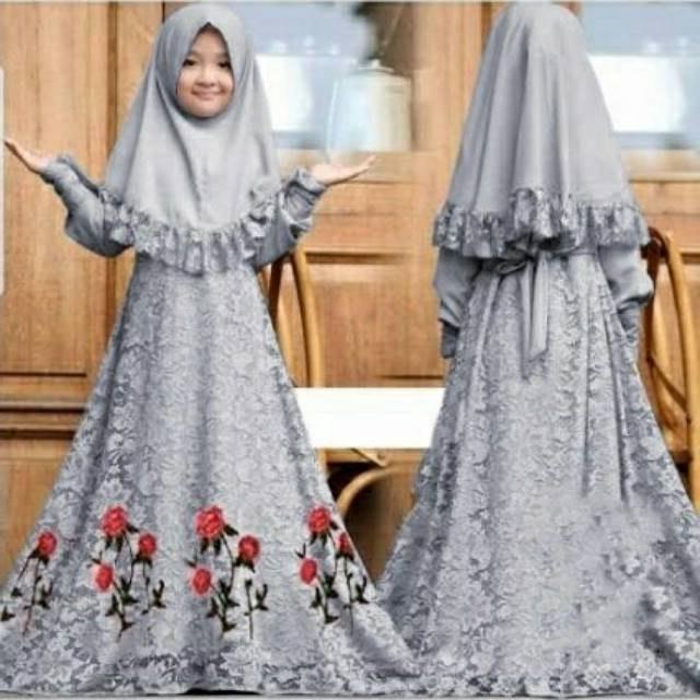 Design Baju Lebaran Anak Perempuan Umur 8 Tahun Ffdn Baju Anak Perempuan Harbie Jersey Gamis Muslim Terbaru