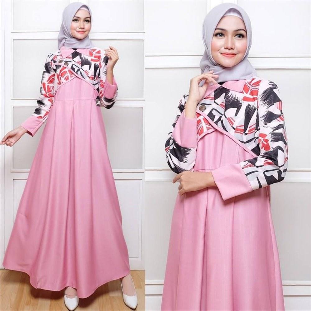 Design Baju Lebaran Cantik 3ldq Jual Baju Gamis Wanita Hanbok Pink Dress Muslim Gamis
